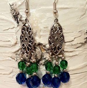 Seattle Seahawks Dangling Earrings